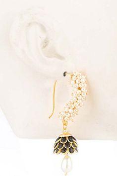 Gold Solid Alloy Earrings by Karmic Jewels, Earrings