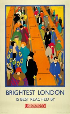 Brightest London is best reached by Underground, by Horace Taylor, 1924 (1), London Transport Museum © Transport for London.