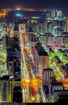 Abu Dhabi - Hamdan Street (HDR), via Flickr.