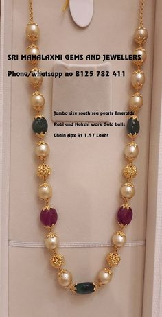 Gold Jewelry pearl chain designs - Pretty Pearl Pieces You Should Own! Gold Mangalsutra Designs, Gold Jewellery Design, Bead Jewellery, Beaded Jewelry, Pearl Necklace Designs, Pearl Jewelry, Stone Jewelry, Pendant Jewelry, Jewelry Sets