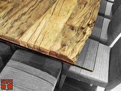 Nativo Redwood. Mesa Comedor Plankwood Durmientes Arenados con cubierta de cristal de 19 mm. www.facebook.com/nativoredwood www.pinterest.com/nativoredwood