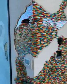 Amazing Lego Wall in the house - tag someone who needs this La mejor imagen sobre healthy desserts para tu gusto Estás buscando alg - Lego Display, Lego Design, Deco Lego, Lego Hacks, Minecraft Banner Designs, Lego Furniture, Minecraft Furniture, Furniture Ideas, Lego Sculptures