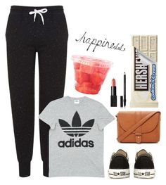 """・happiness・"" by rachiepoo13 ❤ liked on Polyvore featuring Topshop, adidas, Converse, Forever 21, NARS Cosmetics and Shiseido"