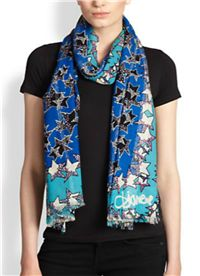 Diane von Furstenberg - Shimmering Star-Print Wool & Lurex Scarf: Whimsical graphic patterns are a big trend this season – cartoon words and designs are on everything from sweatshirts to handbags. DVF has such a sophisticated interpretation of this trend in star print of this scarf.