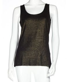 Another great find on #zulily! Gold Scoop Neck Tank #zulilyfinds