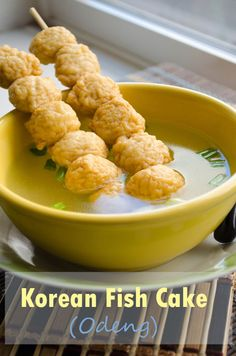 Korean Fish Cake {Odeng}...don't really know about this but it sounds warm and yummy but light...