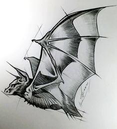 Flying Bat drawing in pencil, original artwork Vampire Drawings, Dark Drawings, Art Drawings Sketches, Animal Sketches, Animal Drawings, Murcielago Animal, Bat Sketch, Bat Flying, Vampire Bat
