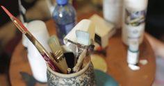 working in my studio - La Maison Boheme
