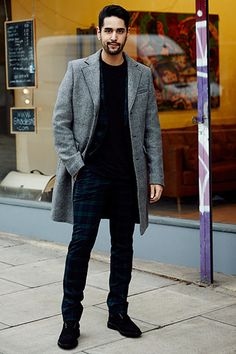 From my recent street style. I love wearing these suit trousers dressed down with a basic t-shirt and big jacket.