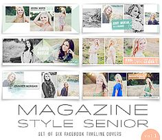 Magazine Style Facebook Timeline Covers Set of Six