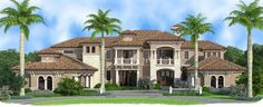5 Bed Mediterranean Inspired Villa - 66349WE | European, Florida, Mediterranean, Spanish, Luxury, 1st Floor Master Suite, Butler Walk-in Pantry, CAD Available, Den-Office-Library-Study, Elevator, Loft, MBR Sitting Area, Media-Game-Home Theater, PDF | Architectural Designs
