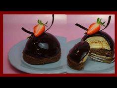 Weisse Mokkatörtchen mit dunkler Mirror Glaze - Mokka Mousse & Mirrorglaze - Kuchenfee - YouTube