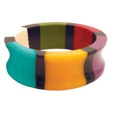 Resin Color Block Bangle