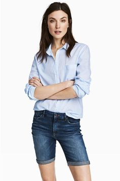 Short en jean - Bleu denim foncé - FEMME   H&M FR 1