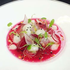 Seabass Ceviche Beetroot Lime Coriander