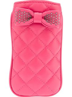 MOSCHINO CHEAP And CHIC Bow Quilted Phone Cover