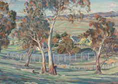 Emily Hilda Rix Nicholas - The Netted Orchards Australian Painting, Australian Artists, Artemisia Gentileschi, Nz Art, Mary Cassatt, Impressionist Artists, Edgar Degas, Claude Monet, Art Auction