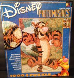 New Disney Photomosaic Jigsaw Puzzle - 1026 pieces - Tigger - by Robert Silvers #Tigger