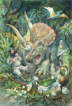 Studio Rayyan Triceratops in the Tea