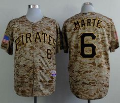 d500de32291 MLB Pittsburgh Pirates 6 marte Camo 2015 Jerseys