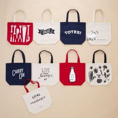 Surely we can make similar market tote bags... DIY screen printing session?