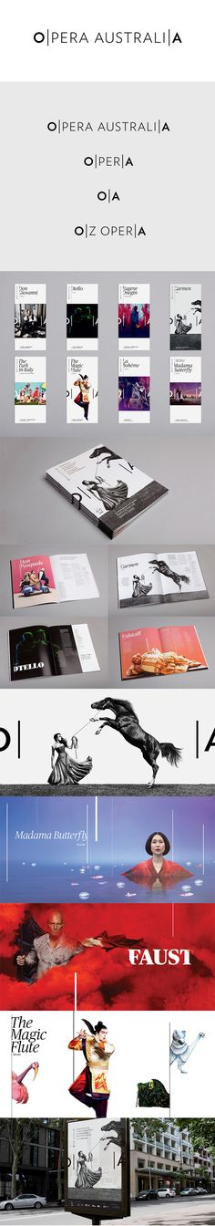 More corporate-designs are collected on: https://pinterest.com/rothenhaeusler/best-of-corporate-design/ · Client: Opera Australia   Agency: Interbrand (Australia, Sydney), 2013 #branding #identity #corporatedesign