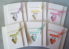 Building Blocks | Clearly Besotted Stamps - makes a great card set.