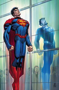 SUPERMAN # 50 Superman regresa con toda su gloria en esta edición muy especial que ve el hombre de acero de nuevo a plena potencia mientras se enfrenta a su mayor enemigo, y también se encuentra cara a cara con el pre-Flashpoint Kal-El!  Por fin, es la reunión de la superhombres que has estado esperando!