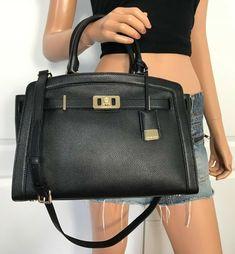 2e61781e9fa2 New Authentic Michael Kors Adele Large Dome Satchel Handbag Purse Fawn  Leather