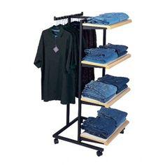 Merchandised Two Way Garment Rack
