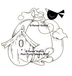 #109  Pumpkin Birdhouse (Clear)