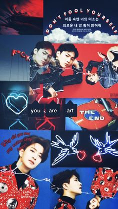 ☁️2jae red&blue aesthetic lockscreen☁️  #2jae #youngjae #jaebum #got7 #aesthetic #lockscreen #blue #red #look #ship #kpop
