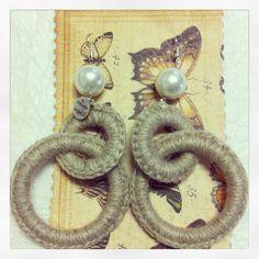 Orecchini in filo di lino