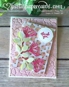 Eclectic Layers Dies, Wood Words Stamp Set, Stampin' Up! stampinup, Thank You Card, Tic Tac Toe Challenge, Pretty Paper Cards