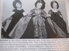 4pg Effanbee Anne Shirley Doll Magazine Article / LITTLE LADY / Barb Comienski