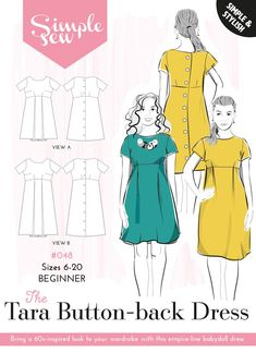 Womens  BEGINNER The Grace Dress /& Skirts UK SIZES 6-20 Ladies Sewing Pattern