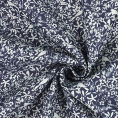 Stretch Jeans Meadow of Birds 2 - Cotton - Polyester - Spandex - navy blue
