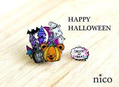 【sale】かぼちゃのハロウィンピアス
