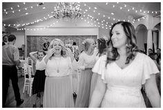 Bouquet toss at Castle Park in Lindon by Utah Wedding Photographer Brooke Bakken | LDS Bride and Groom | Modest Wedding Dress | Blush | Cream