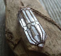 Crystal Quartz Pendant  Quartz Crystal Point  by TheTreeFolkHollow, $50.00