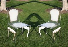 Designlush presents A.R.T. special edition acrylic dining chairs by aaron r. thomas