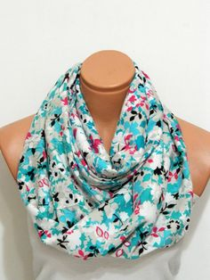 multicolored flowers Infinity Scarfnomad by WomensScarvesTrend, $19.00