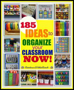 185 Ideas for Classroom Organization 2014 and Beyond! Organize Materials and Manipulative Materials in the Early Childhood Classroom {Preschool + Kindergarten} RoundUP at RainbowsWithinReach Classroom Organisation, Teacher Organization, Classroom Management, Organized Teacher, Organization Ideas, Classroom Setup, Kindergarten Classroom, Future Classroom, Classroom Design