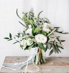 Greenery and White Bouquet | Simple Wedding Bouquet
