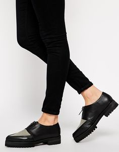 Senso Katia Black Flat Grunge Sole Flat Shoes
