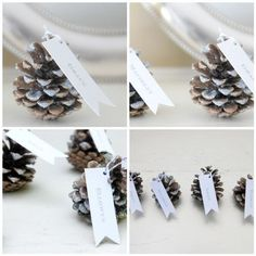 Glitter pinecones - Potter and Butler on Etsy via Vintage Indie