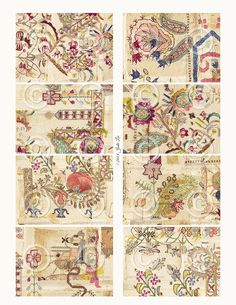 Printable Shabby Chic Vintage Stitched Quilt JPG by Jodie Lee Designs.