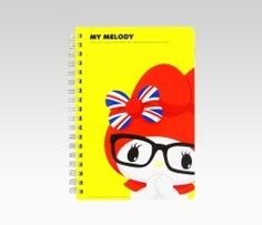 My Melody Double Ring Yellow Notebook: Union Jack