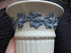 Wedgwood Eturia 6 Vase Tall Queensware Lavender on Cream England Blue Grapevine Pattern Tall Vases, Creamy White, Wedgwood, Home Decor Items, Grape Vines, Gifts For Him, Lavender, England, Fill
