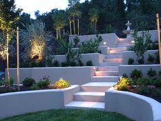 stairs in luxurious garden